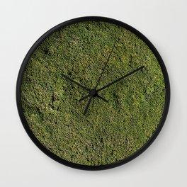 Green natur carpet Wall Clock
