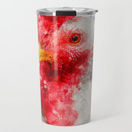 Watercolor Chicken, Chicken Painting, Chicken Decor, Chicken Art, Chicken Design, Hen Travel Mug