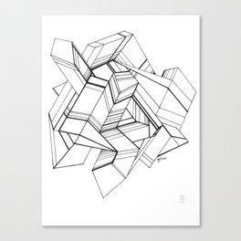 Geo Tactic 3, Sketch Canvas Print