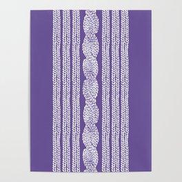 Cable Stripe Violet Poster