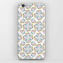 Memphis Tropical Watermelon Pattern, Seamless Vector Background iPhone Skin