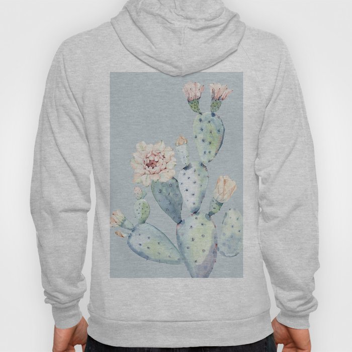 Prettiest Rose Cactus Blue Hoody