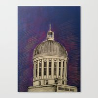 montreal Canvas Prints featuring Montreal by Shazia Ahmad