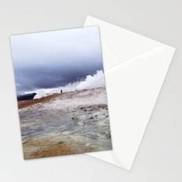 Man on the moon, Iceland Stationery Cards