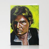 han solo Stationery Cards featuring Han Solo by Buffalo Bonker