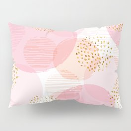 Pink Circles Pillow Sham