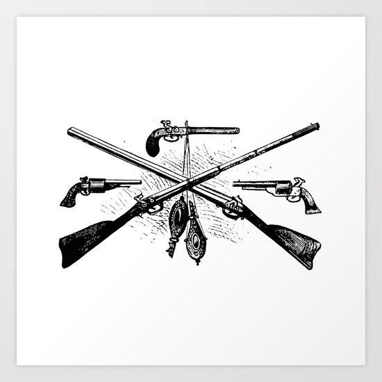 Vintage Gun Collage #2 Art Print