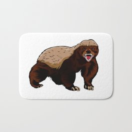 Honey badger illustration Bath Mat