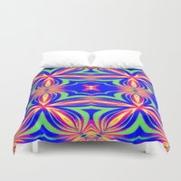 psychedelic art Duvet Covers featuring Psychedelic  by 2sweet4words Designs