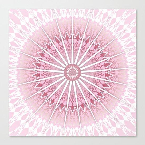 Dusky Pink Mandala Canvas Print