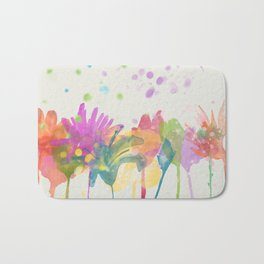 dp059-1 Watercolor flowers Bath Mat