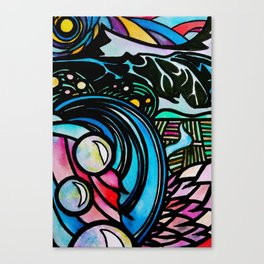 Flying home with Dinner Canvas Print