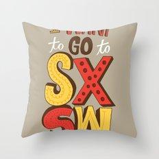 SXSW Throw Pillow