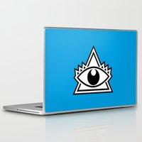 third eye Laptop & iPad Skins featuring Third Eye by Diogo Rueda