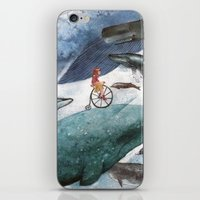 whales iPhone & iPod Skins featuring Whales by Judith Chamizo