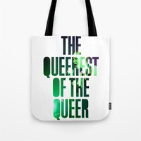 queer Tote Bags featuring Garbage - 'Queer' lyrics by Rebecca Houlden