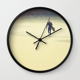 After the Surf, Fistral Beach, Newquay, Cornwall Wall Clock