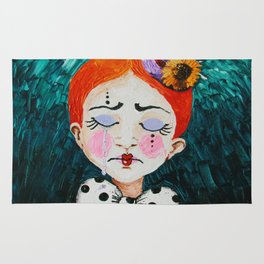 Ginger Clown with a Hat Rug