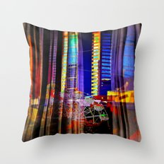 Behind the curtain 4 (Melbourne downtown) Throw Pillow