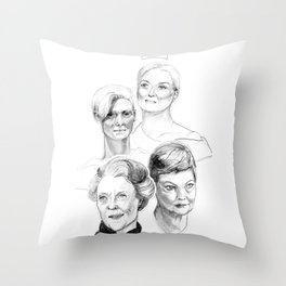 Grand Dames Throw Pillow