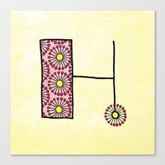 H h Canvas Print