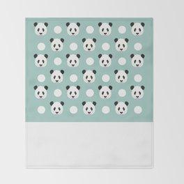 Panda polka dots pattern print minimal trendy kids design pillow cell phone cute panda cub character Throw Blanket