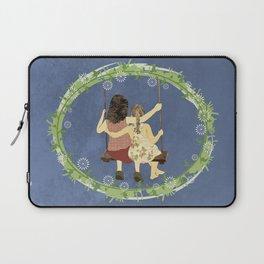 Sisters on swing Laptop Sleeve