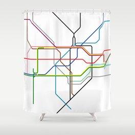 London tube Shower Curtain