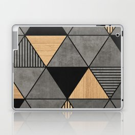 Concrete and Wood Triangles 2 Laptop & iPad Skin