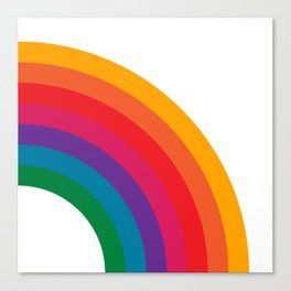 Retro Bright Rainbow - Right Side Canvas Print