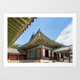 Blue Tile Roof, Changdeokgung Palace, Seoul Art Print