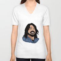 dave grohl V-neck T-shirts featuring Dave Grohl - Fan Art by Matty723