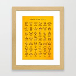 071 70s Robots Framed Art Print
