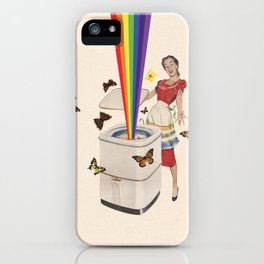 Rainbow Washing Machine iPhone Case