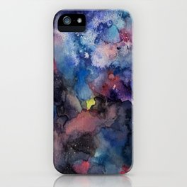 constellations sky with colors iPhone Case
