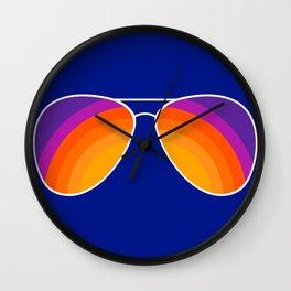 Rainbow Shades Wall Clock