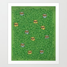 Little Leafy Friends Art Print