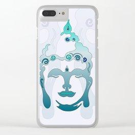 Buddha Head turquoise II Clear iPhone Case