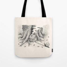 'A Visitor' (Grey) Tote Bag