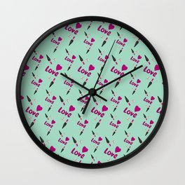 Love Lipstick Wall Clock