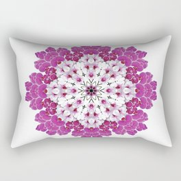 A gathering of orchids - mandala number 2, Doritaenopsis Rectangular Pillow