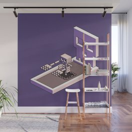 Familiar Face — isometric pixel artwork Wall Mural