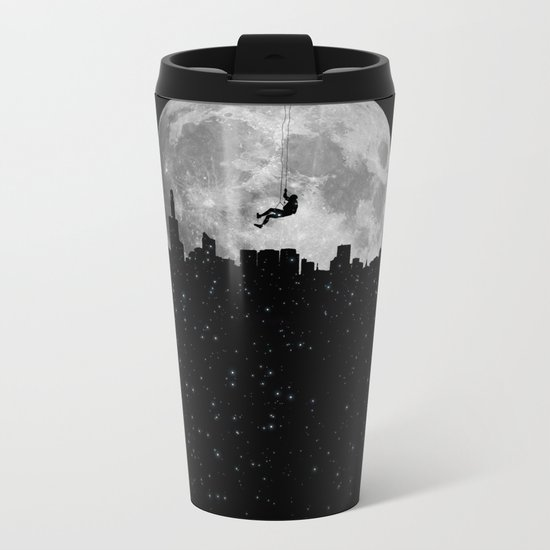 The Moon Climber Metal Travel Mug