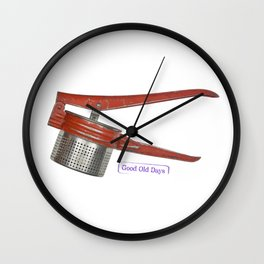 vintage masher Wall Clock
