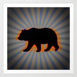 trippy bear Art Print