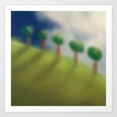 Brushed Nature Art Print