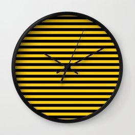 Iowa Team Colors Stripes Wall Clock