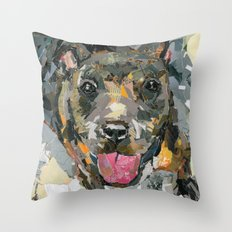 Nubby The Rescue- Available for adoption @ Bama Bully Rescue Throw Pillow