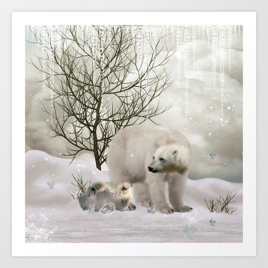 Awesome polar bear Art Print