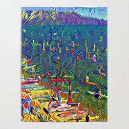 SUP Races El Dorado Beach Lake Tahoe Poster